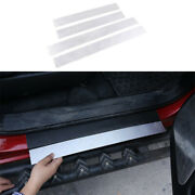 Silver Aluminum Door Sill Scuff Plate Cover Protector For Toyota Tacoma 2016-21