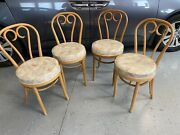 Vintage Midcentury Thonet Style Bentwood And Vinyl Cafe Chairs