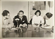Dr. Martin Luther King @ Bennett College Greensboro Nc February Orig Photo Names