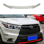 White Painted Hood Bug Stone Chip Deflector Guard For Toyota Highlander 14-2019