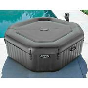 Portable Inflatable Hot Tub Spa Includes Built In Hard Water Treatment System