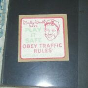 Mickey Mantle 1950's Dairy Lea Decal