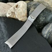Rare 17.25mm Stainless Steel Mesh Gemex Usa Nos 1960s Vintage Watch Band