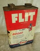 Old Antique Vintage Stock Can 5liter Insect Bug Insecticide Poison Flit Esso