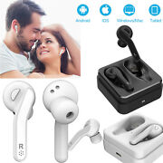 Bluetooth Headset Double In Ear Stereo Headphones For Iphone Samsung S10 S21 S20