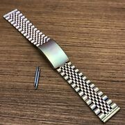Rare 18mm Beads Of Rice Bambi Yellow Gold Rainbow-tone 1980s Vintage Watch Band