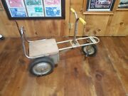 Vintage Antique Irish Mail Cart Push Pull Childand039s Scooter Childrenand039s Kids Toy
