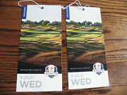2 Wednesday 9/22/21 Grounds Ryder Cup Tickets/golf/whistling Straits/free Ship