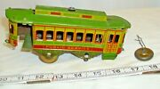 Monhawk Toys Main Street Trolley Car Tin Toy For Parts Or Restore
