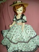 1953 Madame Alexander, 18 Glamour Girl, Picnic Day, Tagged Doll Excellent Cond.