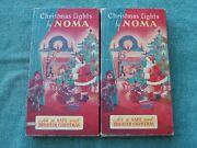 2 Sets Of Christmas Lights By Noma Cat No 110 8 Working Bulbs Per String 1936