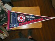 2004 Boston Red Sox World Series Champions Pennant Red Strip
