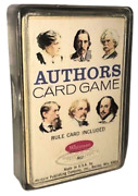 Vintage Whitman Authors Card Game - Complete Deck In Case With Rules 4497