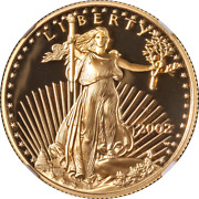 2002-w Gold American Eagle 25 Ngc Pf70 Ultra Cameo Brown Label - Stock