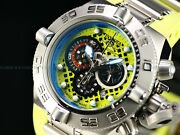 Rare Puppy Menand039s Subaqua Iv Swiss Made Chronograph Lime Green Ss Watch