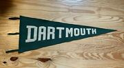 Andnbsprare Vtg Oversized Dartmouth College Wool Felt Pennant With Makers Mark Intact
