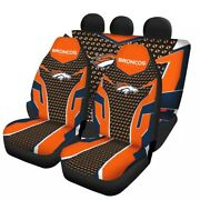 Denver Broncos Universal Auto Car Seat Covers 5 Seater Front Rear Protector