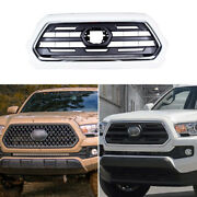 Blackandwhite Front Upper Bumper Mesh Grill Grille Fit For Toyota Tacoma 2016-2021