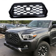 Black Sports Front Upper Bumper Mesh Grill Grille For Toyota Tacoma 2016-2021