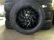 20x10 Fuel Runner D741 Black Wheels Rims 33 At Tires 8x170 Ford Excursion F350
