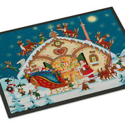 Carolineand039s Treasures Pjh3004mat Santa Claus Loading The Sleigh Indoor Or Outdoor