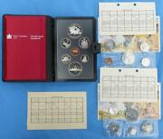 1981 Canada Proof Set And 2 1981 Uncirculated Sets, 19 Coins, Locomotive Silver 1