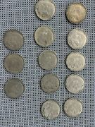German 2 Reichsmark Silver Coins Lot Of 13 Coins Ww2 0.625 Silver
