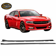 Fits 15-20 Dodge Charger V3 Style Side Skirts Extension 2pc - Pp