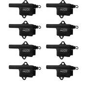 Msd Black Pro Power Coils Gm L-series Truck Style 8-pack Patented Winding Design