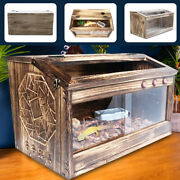 Large Reptile Cage Pet Turtle Wooden Habitat Lizard Insect House 804040cm Usa