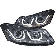 121483 Anzo Headlight Lamp Driver And Passenger Side New Lh Rh For Honda Accord