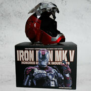 In Stock Iron Man Mark5 Mk5 Helmet 11 Voice-controlled Wearable Cosplay Prop