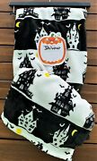 Adirondack By Berkshire Throw Blanket Halloween Haunted Spooky House Black And Whi