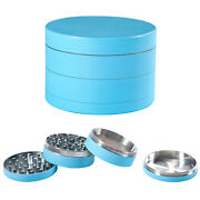 4 Piece Spice Herbal Herb Grinder 2.5and039and039 Metal Chromium Alloy Smoke Crusher Glow