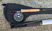 Scott Svs 906 Fly Rod 9'-0 Near Mint With Carrying Case And Reel