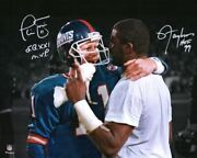 Lawrence Taylor And Phil Simms New York Giants Signed 16 X 20 Spotlight Photo