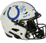 Peyton Manning Indianapolis Colts Signed Lunar Speed Flex Authentic Helmet Hof21