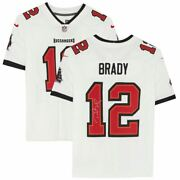Tom Brady Tampa Bay Buccaneers Signed Super Bowl Lv Champions White Nike Limited