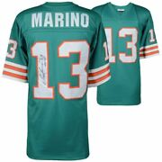 Dan Marino Miami Dolphins Signed Mitchell And Ness Teal Replica Jersey With Hof05