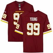 Chase Young Washington Football Team Signed Maroon Nike Game Jersey With Httwft