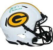 Aaron Rodgers Green Bay Packers Signed Riddell Lunar Eclipse Helmet 3x Nfl Mvp
