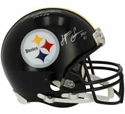 Terry Bradshaw And Lynn Swann Pittsburgh Steelers Signed Vsr4 Authentic Helmet