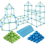 85pcs Fort Toys For Boys Girls Diy Building Playhouse Castle Tunnel Play Tent