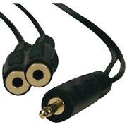 Tripp Lite P313-001 3.5mm Stereo Cable Y-adapter 1ft