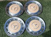 Vintage Mercedes Benz Full Wheelcovers For 14 Inch Wheels 60and039s-early 80and039s Sweet