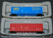 2-exactrail N Scale Meridian And Bigbee And Eec Evans 5277 Box Cars--new--