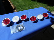 New 1960 Chevrolet Chevy Impala Belair Biscayne Tail Light Lamp Base And Lens Lot