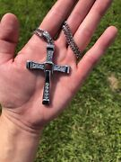 Fast And Furious Dominic Toretto Big Cross Pendant Necklace W/ 2 Chains