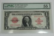Series 1923 Large Size 1 Legal Tender Us Note Pmg 55 About Uncirculated Fr 40