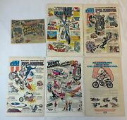 Evel Knievel Ad Collection Lot Of 6 Toy And Model Ads